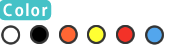 ホワイト/ブラック/イエロー/オレンジ
