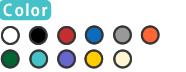 ホワイト/ブラック/レッド/ブルー/グレー/ナチュラル/オレンジ/イエロー/ティール/グリーン/パープル