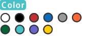 ホワイト/ブラック/レッド/ブルー/グレー/オレンジ/イエロー/ティール/パープル/グリーン
