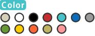 クリア/ホワイト/ブラック/ティール/レッド/ブルー/グレー